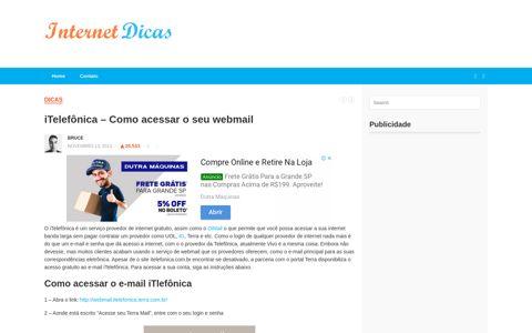 iTelefônica - Como acessar o seu webmail - Internet Dicas