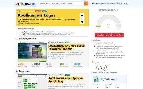 Koolkampus Login - login login login login 0 Views