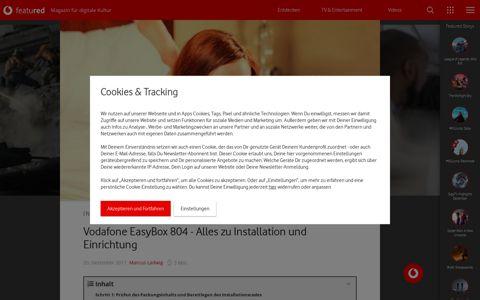 Vodafone EasyBox 804 - Alles zu Installation und Einrichtung