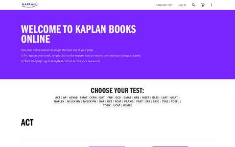 Kaplan Books Online | Kaplan Test Prep