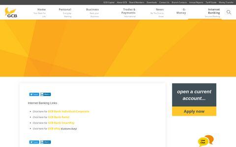 Internet Banking - GCB Bank Limited