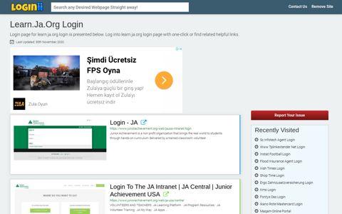 Learn.ja.org Login
