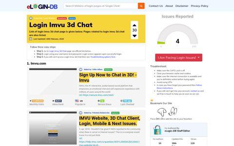 Login Imvu 3d Chat