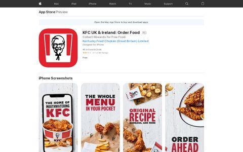 KFC UK & Ireland: Order Food on the App Store