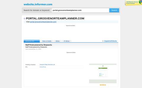 portal.grosvenorteamplanner.com at WI. Staff Portal powered ...