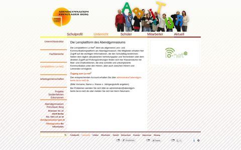 Abendgymnasium Berlin • Lernplattform: Lo-net2