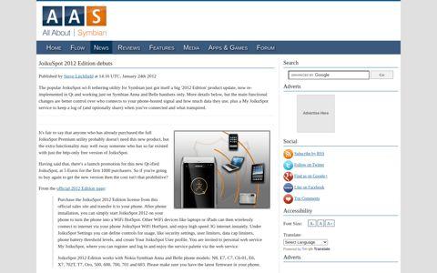 JoikuSpot 2012 Edition debuts - All About Symbian