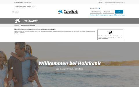 Willkommen bei HolaBank   HolaBank   CaixaBank