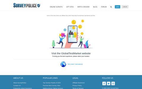 Sign up free at GlobalTestMarket - SurveyPolice