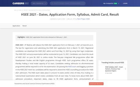 HSEE 2021 - Dates, Application Form, Syllabus, Admit Card ...