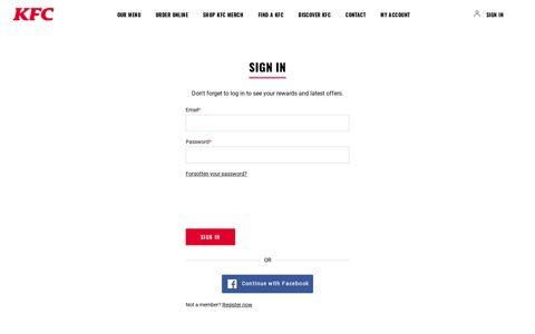 Sign in - Order online - KFC