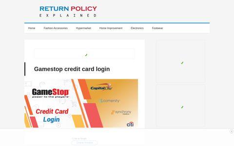 Gamestop credit card login | Login successfully here