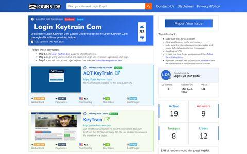 Login Keytrain Com - Logins-DB