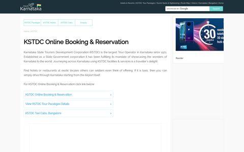 KSTDC Online Booking | KSTDC Online Reservation