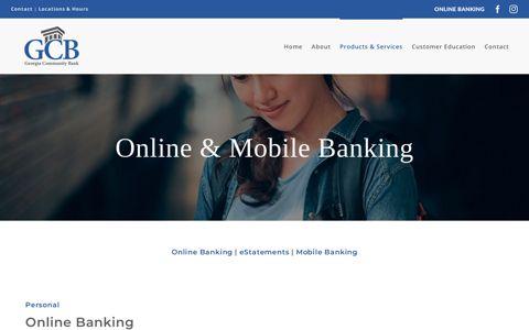 Online & Mobile Banking | GCB: Georgia Community Bank