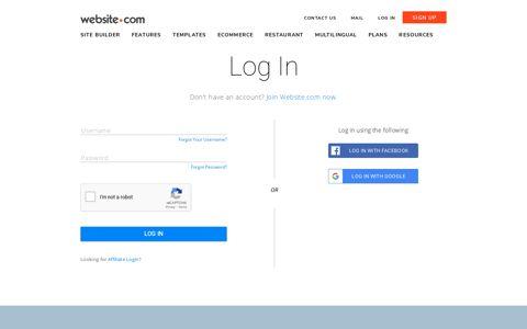 Log in | Website.com