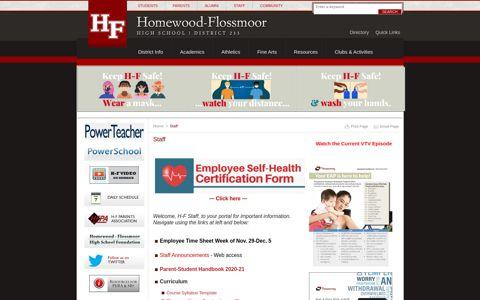 Staff - About | Homewood Flossmoor High School