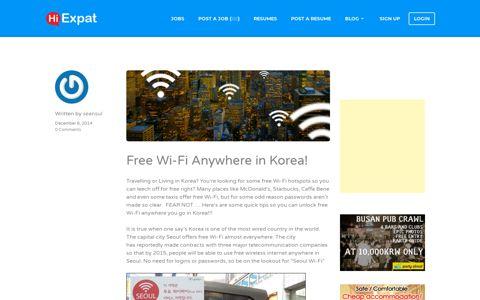 Free Wi-Fi Anywhere in Korea! - Hiexpat Korea