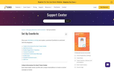 Set Up Eventbrite – Sched Support
