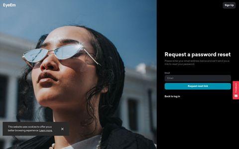 Request a password reset - EyeEm