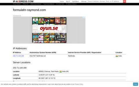Formulahr-Raymond.com - Website Information - IP-Adress.com