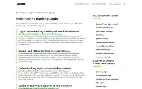 Kskkl Online Banking Login   Allgemeine Informationen zur ...