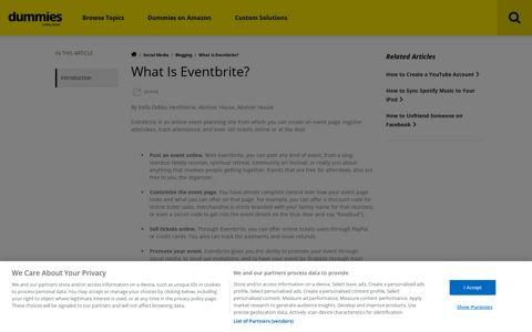 What Is Eventbrite? - dummies
