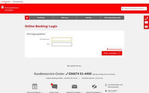Online-Banking: Login - Kreissparkasse Eichsfeld