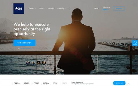 Axes – The World's No.1 Online Forex (FX) Broker