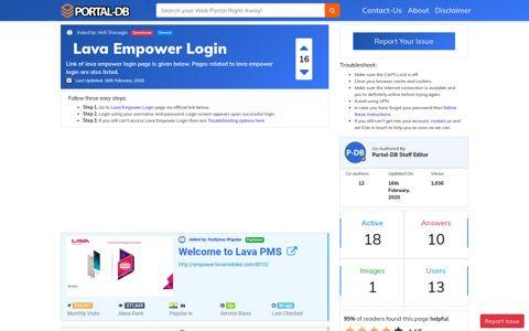 Lava Empower Login - Portal-DB.live