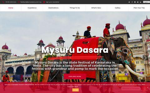 Welcome to Karnataka Tourism - Government of Karnataka