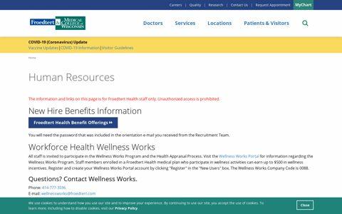 Human Resources - Froedtert