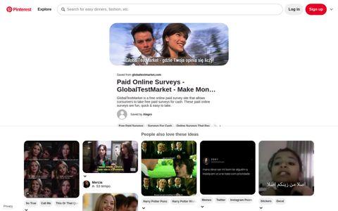 GlobalTestMarket - Login | Online surveys, Online surveys that ...