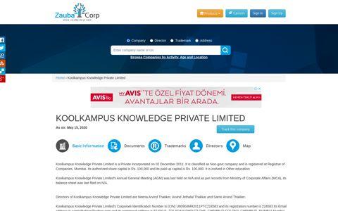 KOOLKAMPUS KNOWLEDGE PRIVATE LIMITED - Company ...