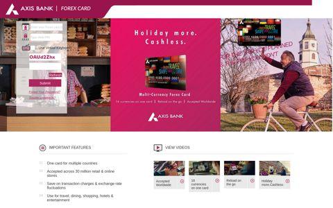 Axis Bank - Forex Card