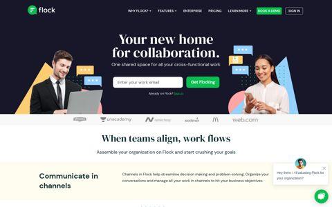 Flock: Team Messenger & Online Collaboration Platform