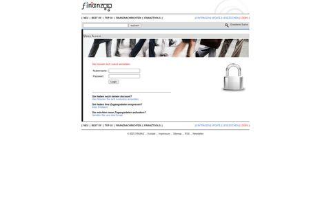 FINIANZ: User Login