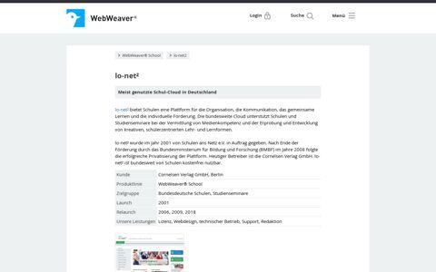 WebWeaver® - lo-net²