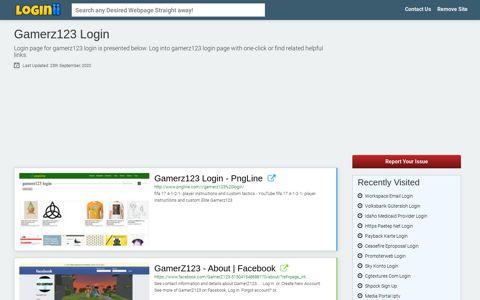 Gamerz123 Login