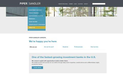 Careers - Piper Sandler