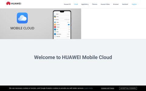 Huawei Mobile Cloud