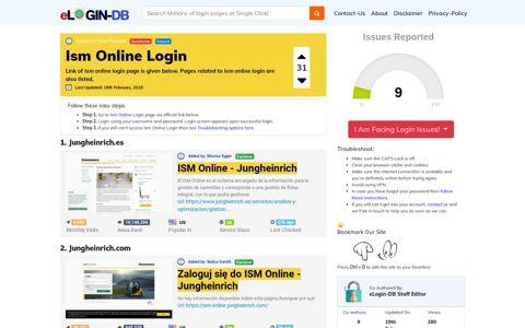 Ism Online Login
