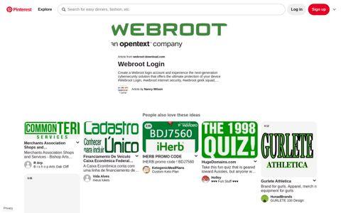 Webroot Login in 2020 | Cyber security, Geek squad, Personal ...