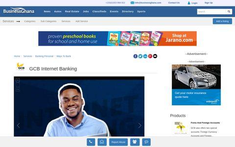 GCB Internet Banking - BusinessGhana
