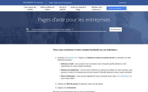 How do I log into my Facebook account? | Facebook Business ...