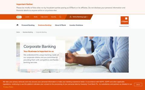 Corporate Banking - GTBank