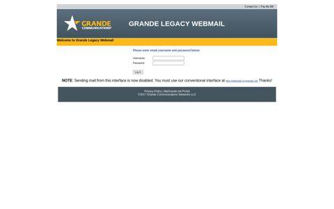 Grande Communications Webmail