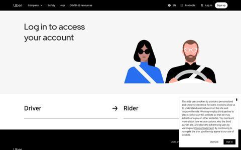 Uber Login | Uber Official Site