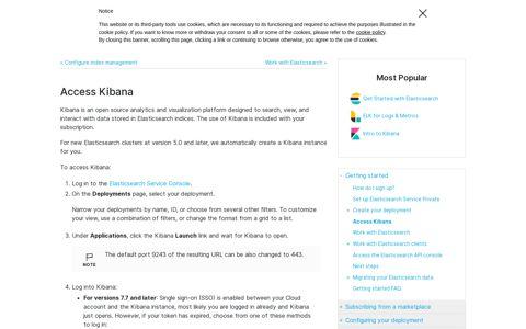 Access Kibana | Elasticsearch Service Documentation | Elastic