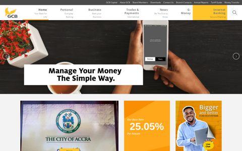 Home - GCB Bank Limited